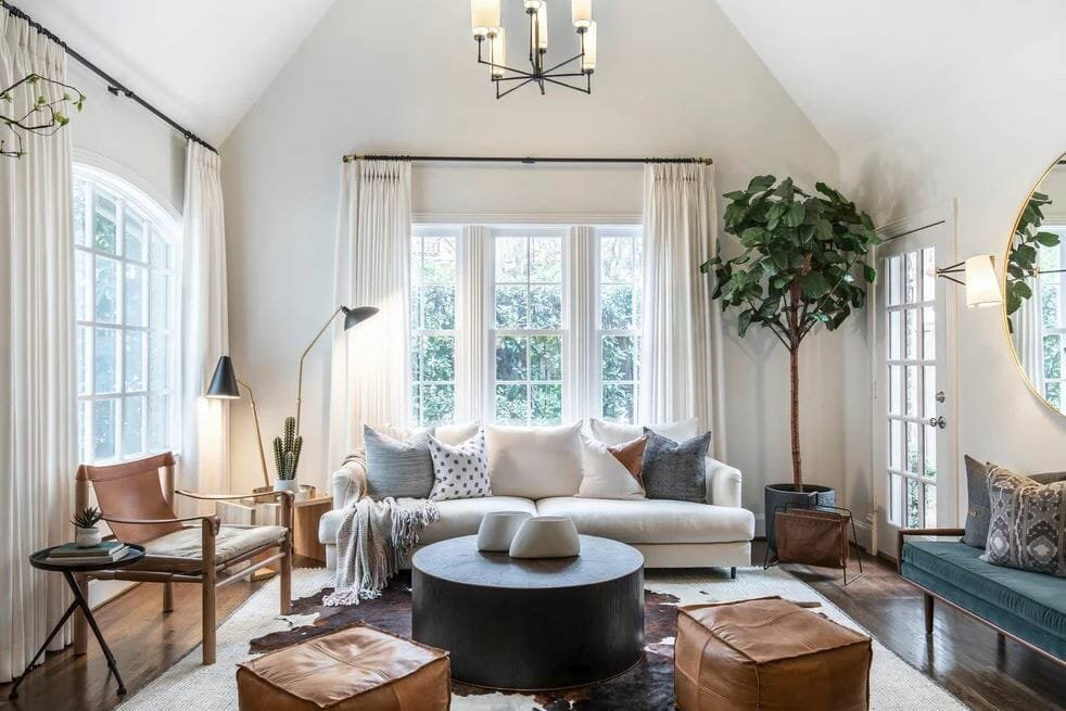 Before after transitional living room online interior - Transitional style living room ...
