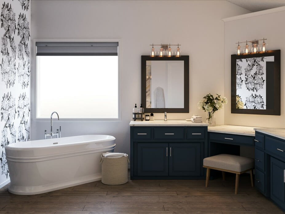 Before After Luxury Master Bathroom Online Interior Design