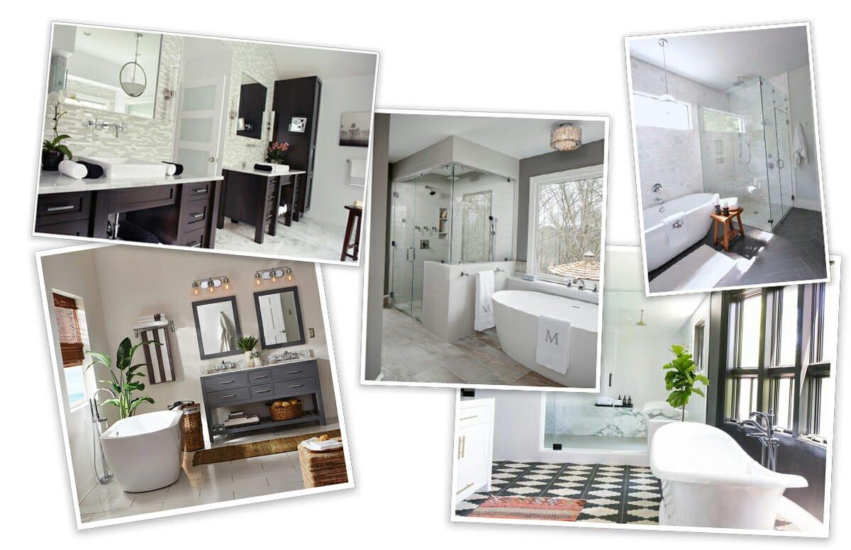Before After Luxury Master Bathroom Online Interior Design