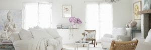 shabby chic furniture with orchids