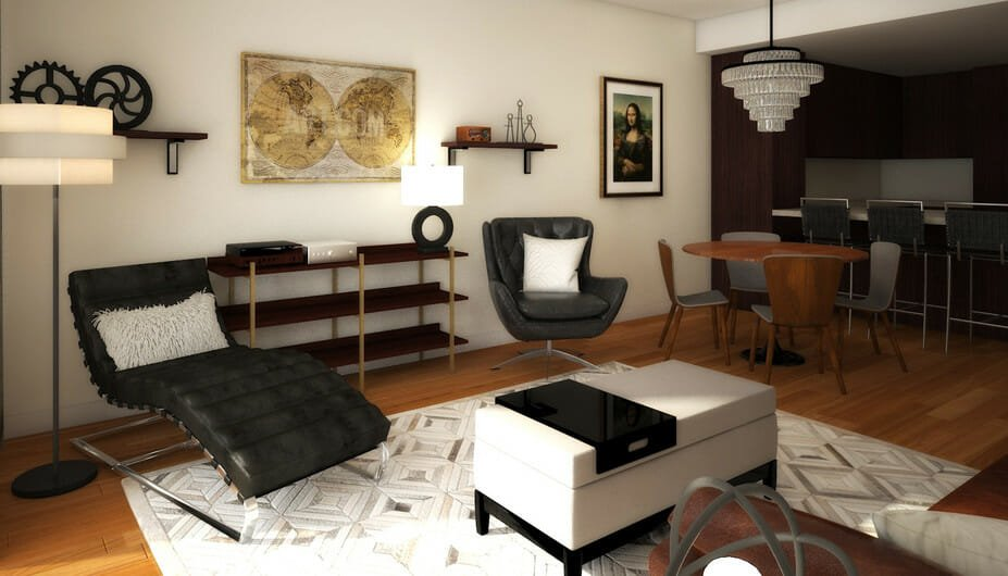 stylish bachelor pad living room design 5