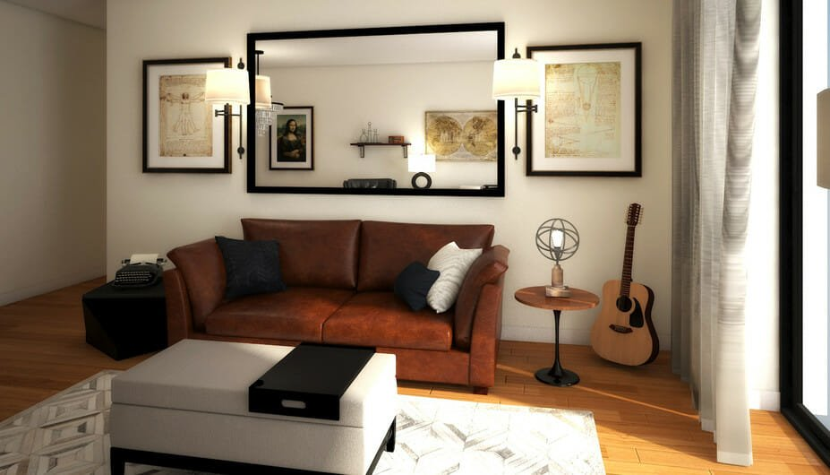 stylish bachelor pad living room design 3
