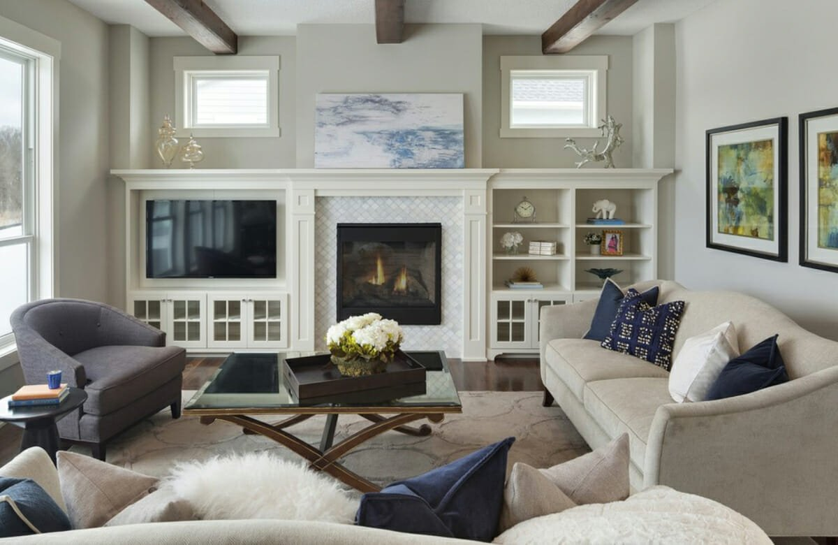 living room design feature