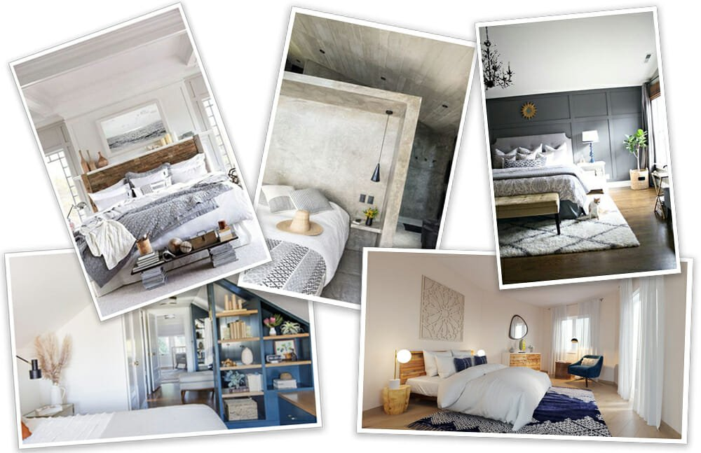 Before After Eclectic Bedroom Interior Design With A Neutral Chic