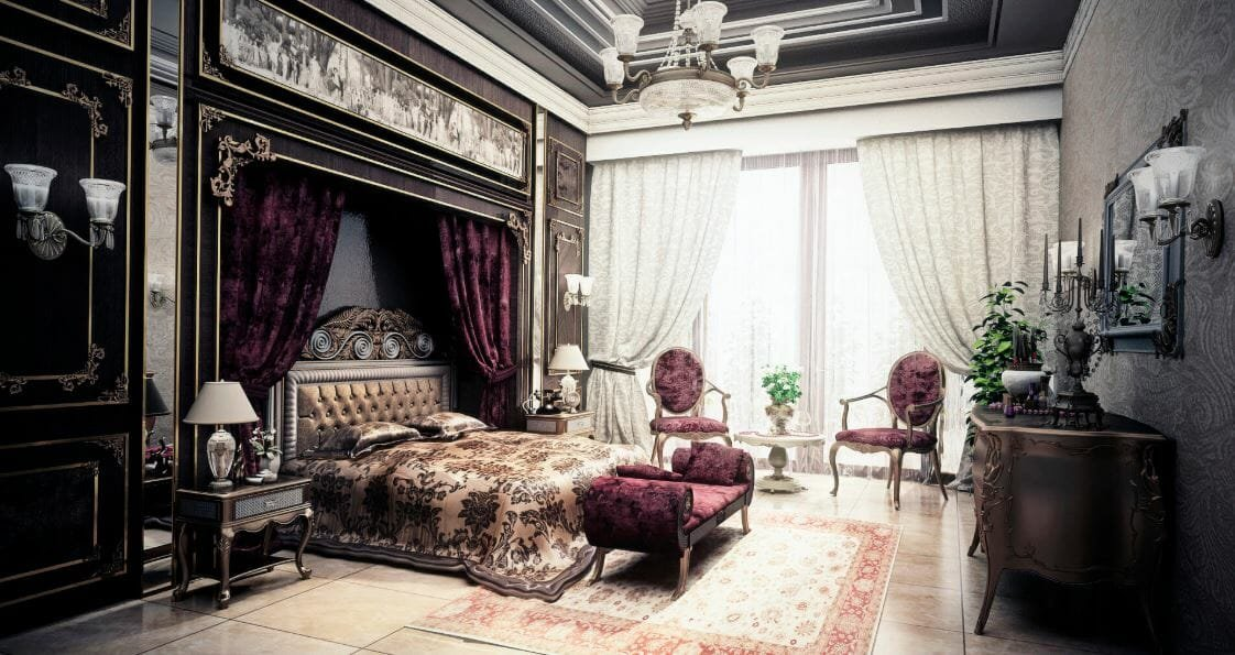 french country style bedroom design
