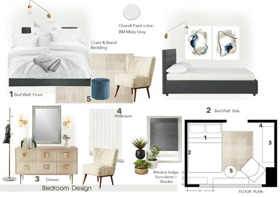 master bedroom design mood board