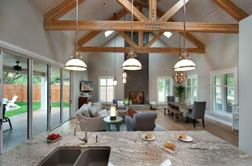 modern farmhouse interior design style living room