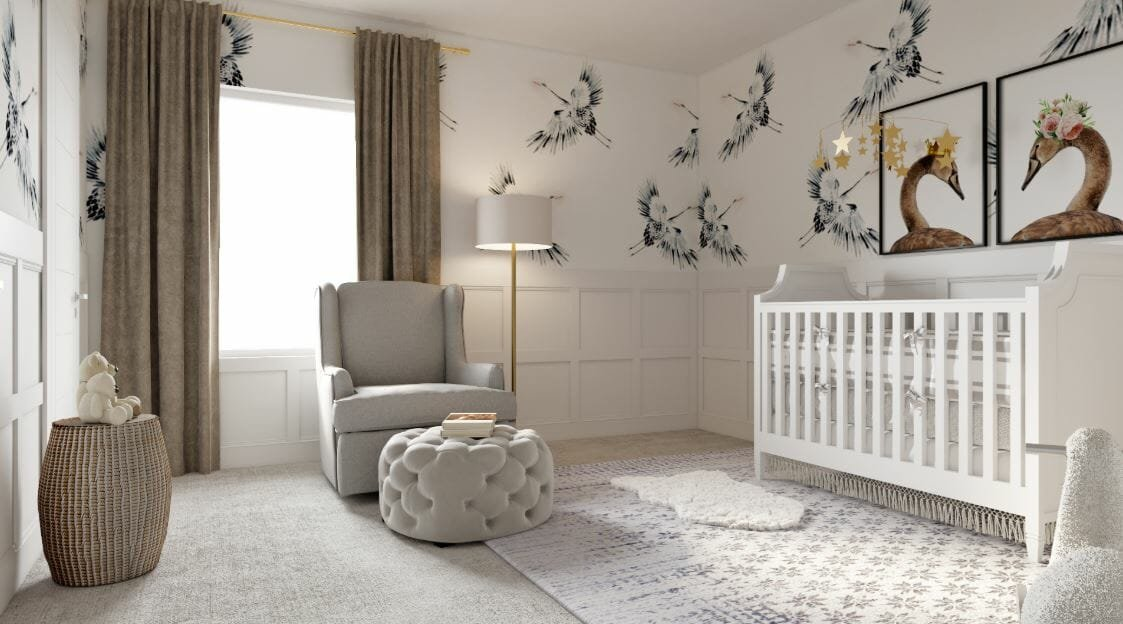 shabby chic style nursery interior design
