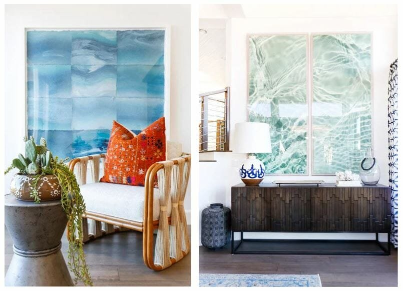 summer interior design trends oversized art