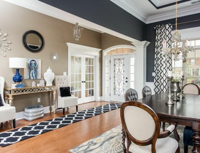 transitional style entryway design
