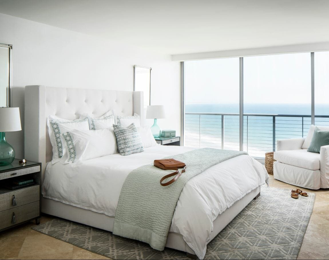 coastal bedroom by Corine M