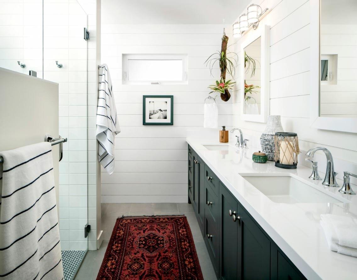coastal interior design bathroom by Corine M