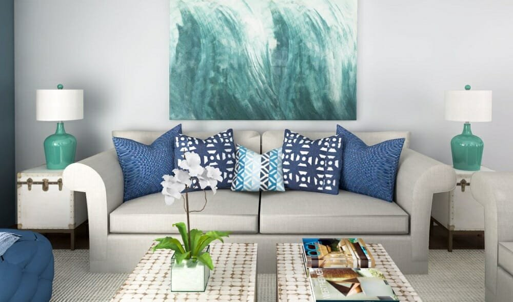 coastal interior design style by Eleni P.