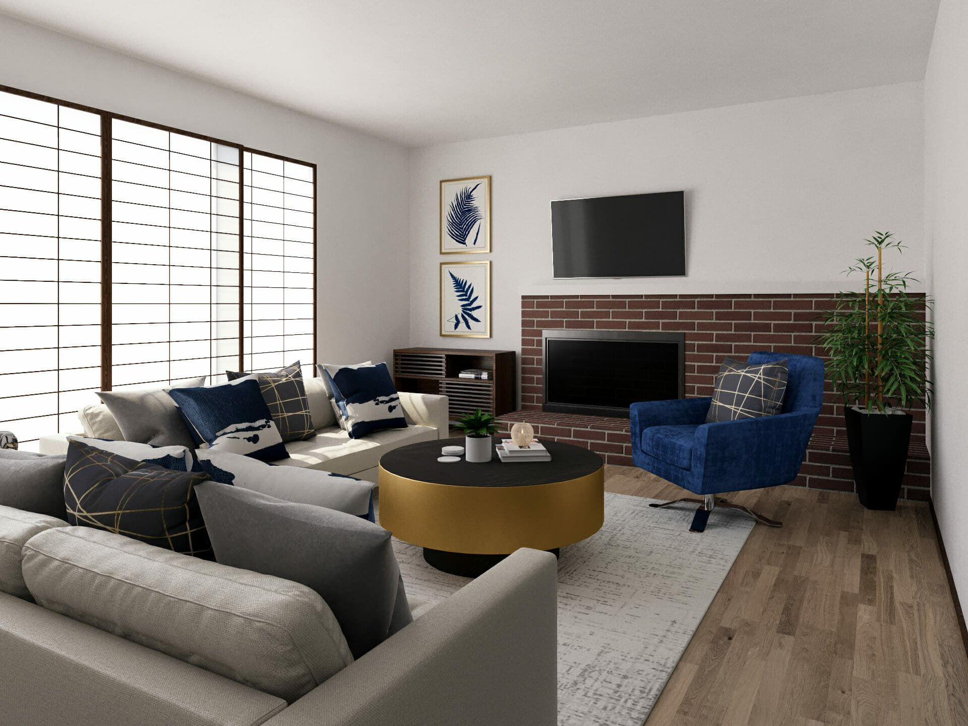 modern living room online design
