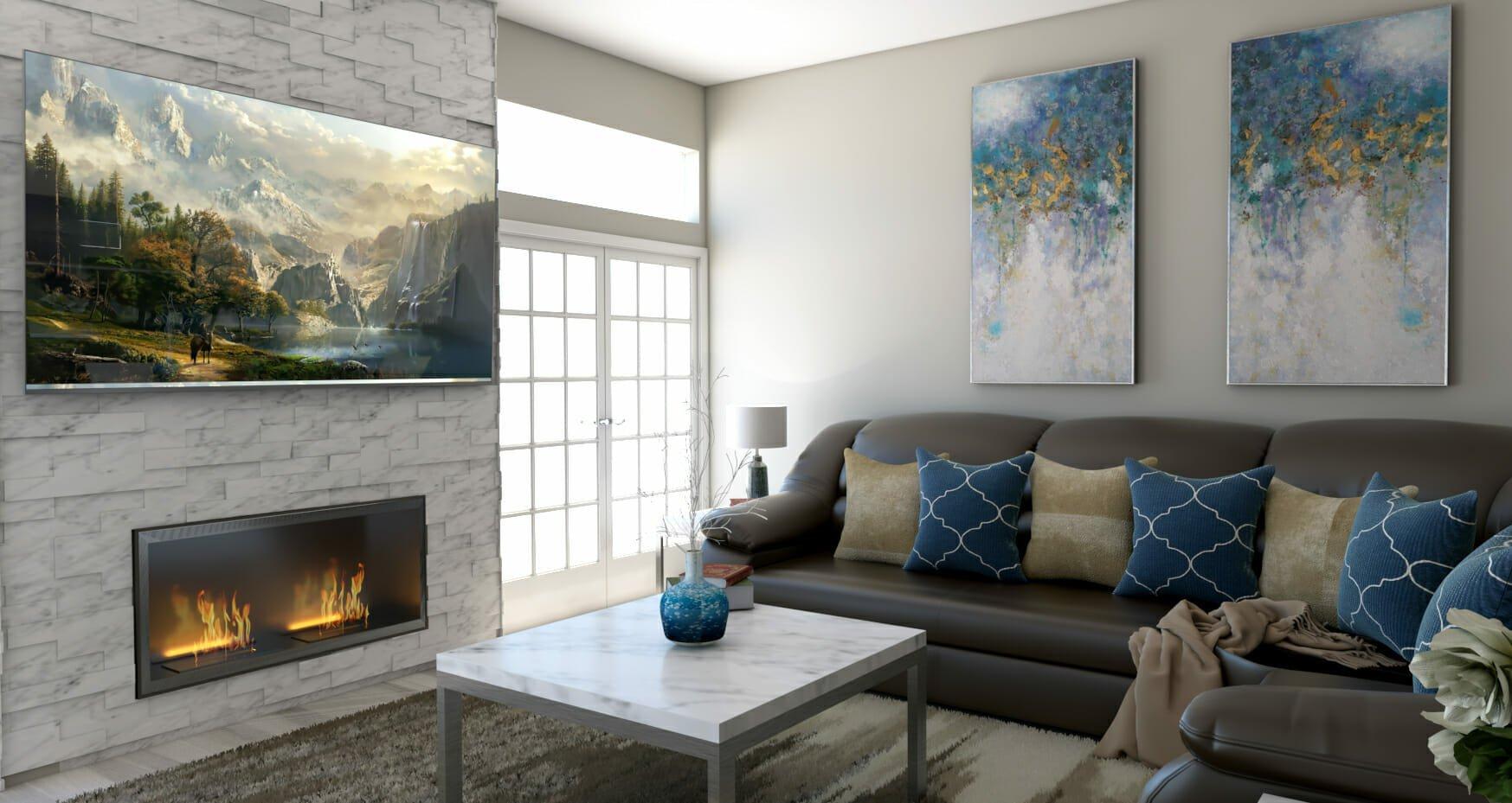 tijana z online interior design rendering