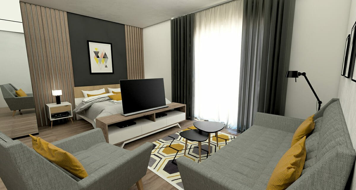 interior designer spotlight studio apartment design