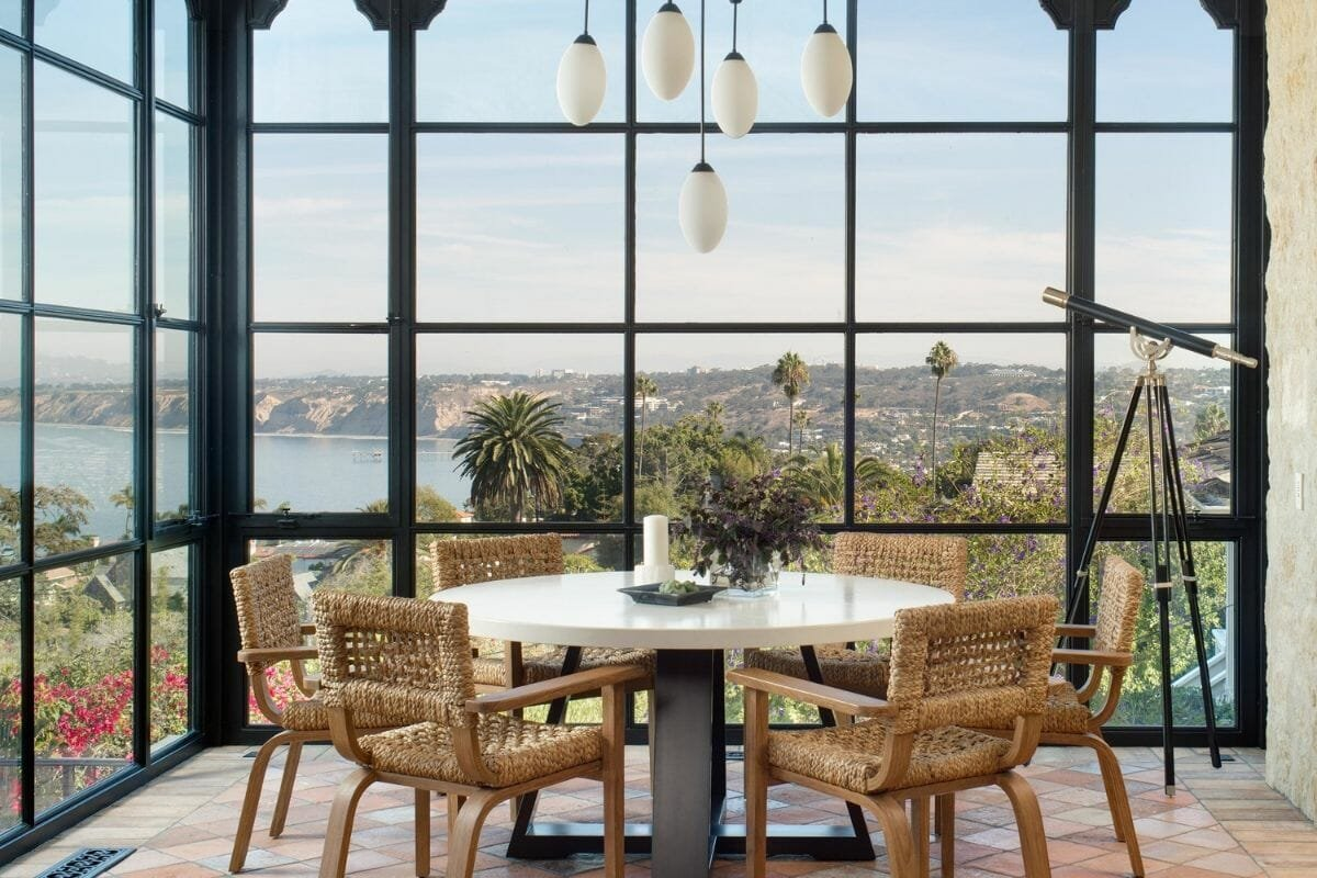 Luxe dining area by interior designs in San Diego