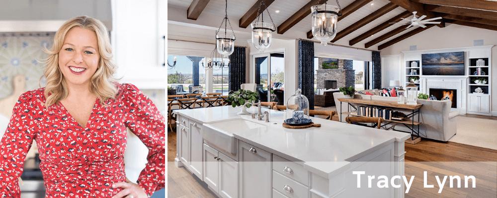 Open plan kitchen and living interior design