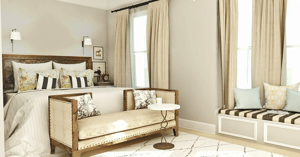 antique furniture in bedroom - taron h - decorilla