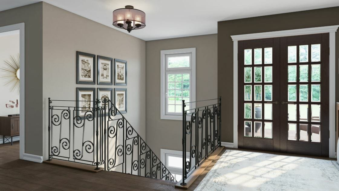 benjamin moore paint colors metropolitan grey - decorilla rendering