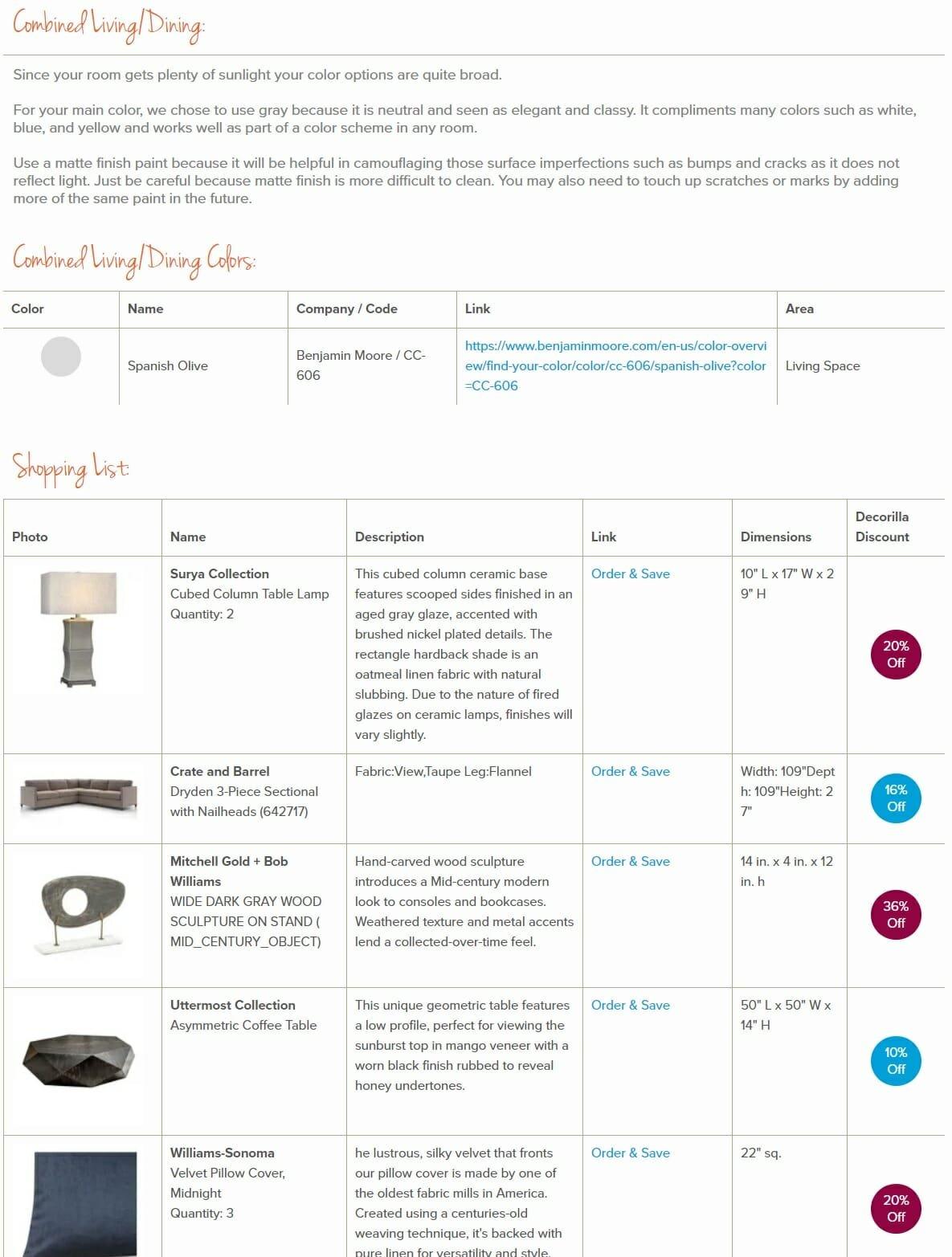 decorilla vs decorist comparison shopping list 6