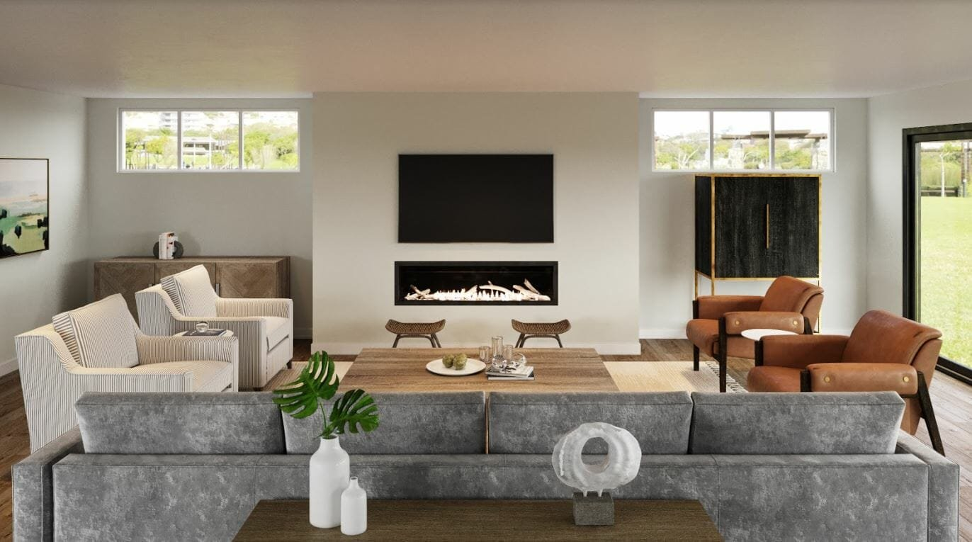 havenly vs decorilla - decorilla living room rendering