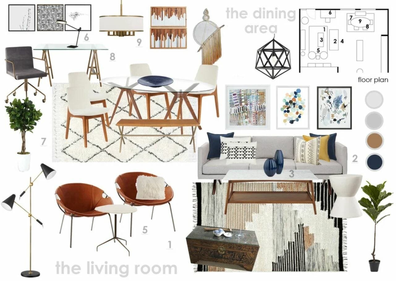Before after rustic scandinavian living room design - Design your room online ...