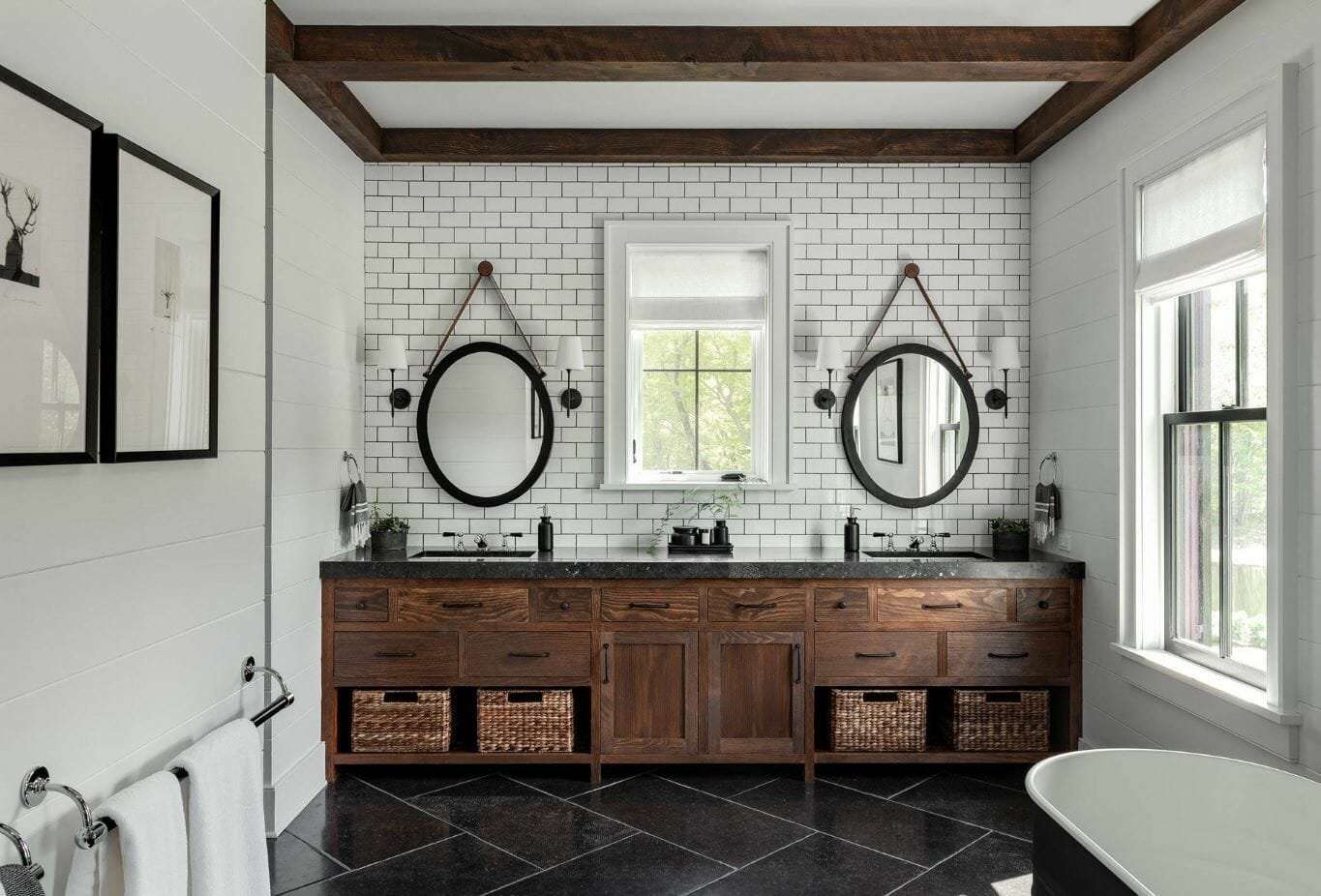 2019 bathroom trends modern farmhouse