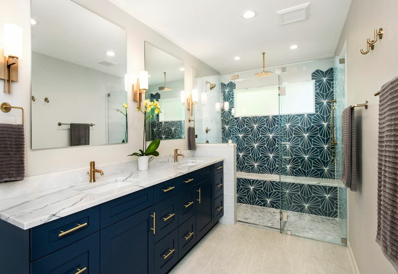 bathroom design trends blue bathroom