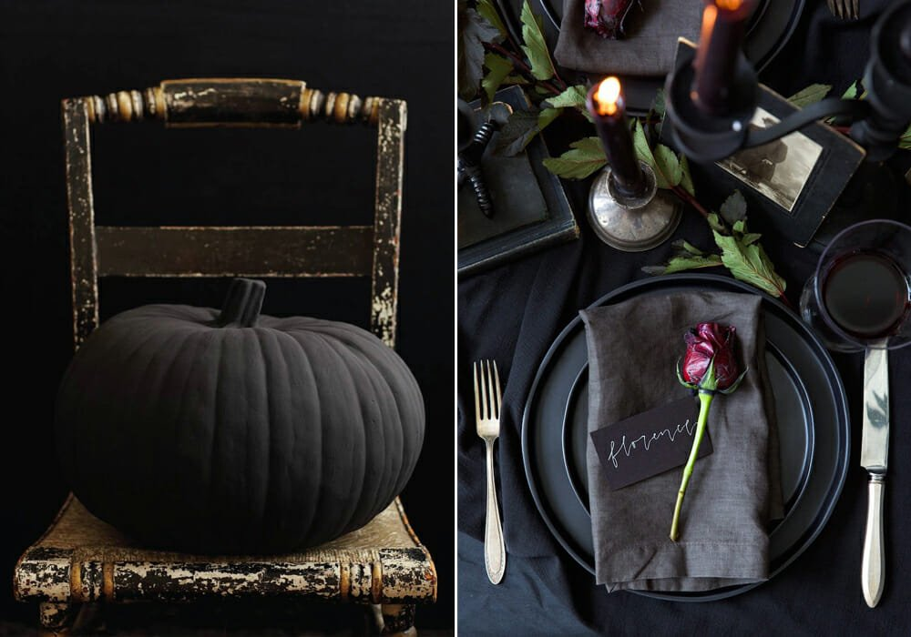 black theme for halloween home decor 2019