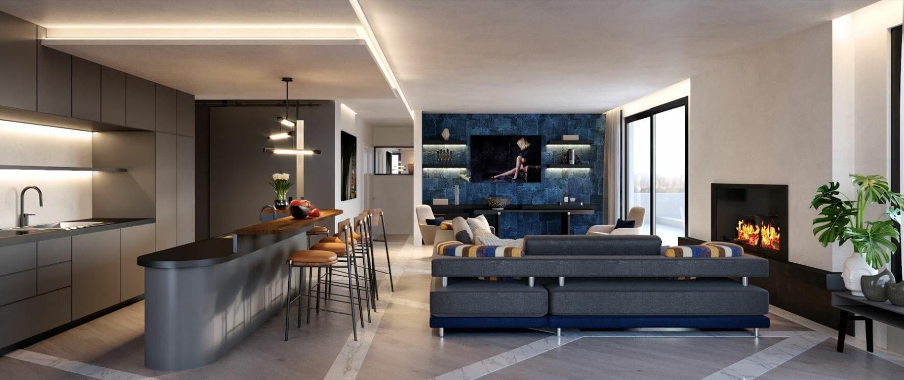 decorilla vs modsy comparison 3d renderings modern living room