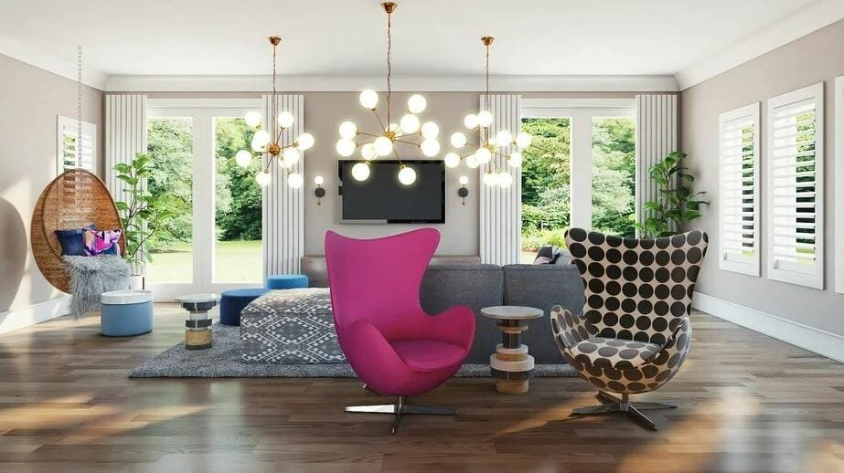 decorilla vs modsy - decorilla living room 3d rendering