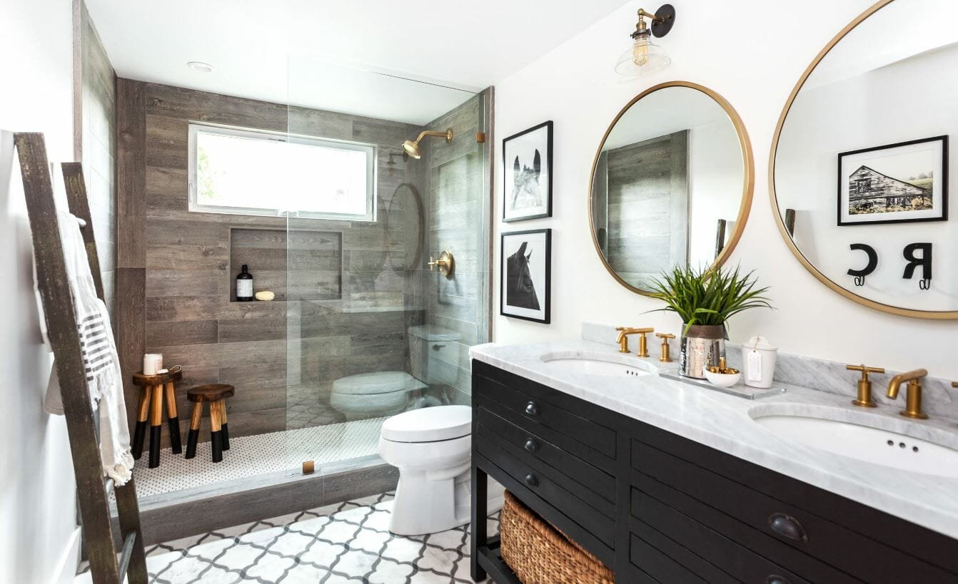 farmhouse 2019 bathroom trends