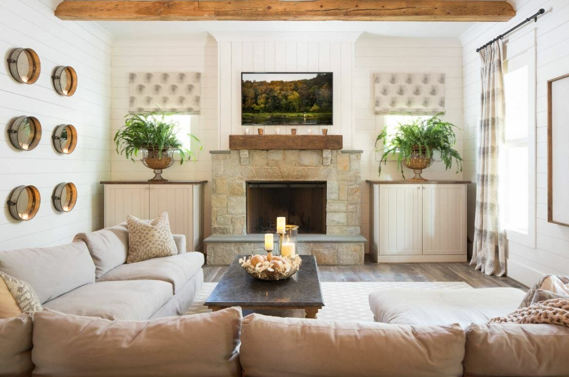 farmhouse interior design greenery