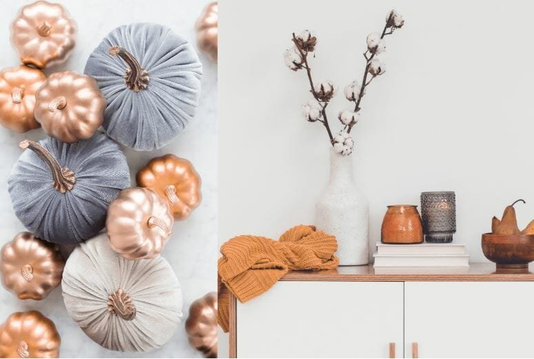 thanksgiving decorations 2019 - metallics