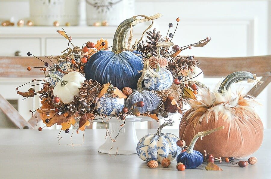 thanksgiving decorations 2019 - velvet pumpkins