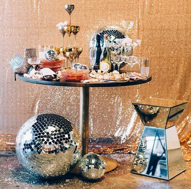 new year's eve home decorating ideas disco ball