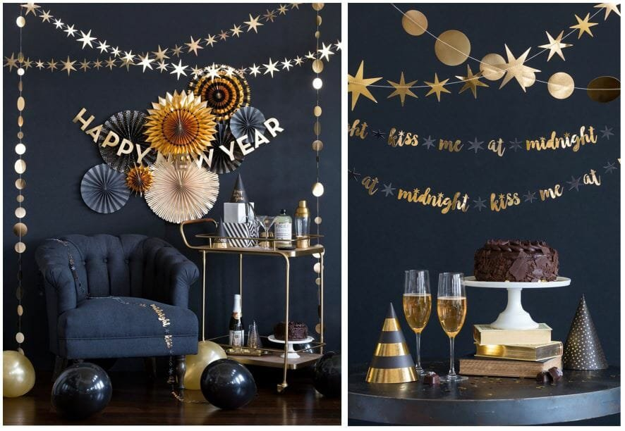 new year's eve home decorating ideas paper garland