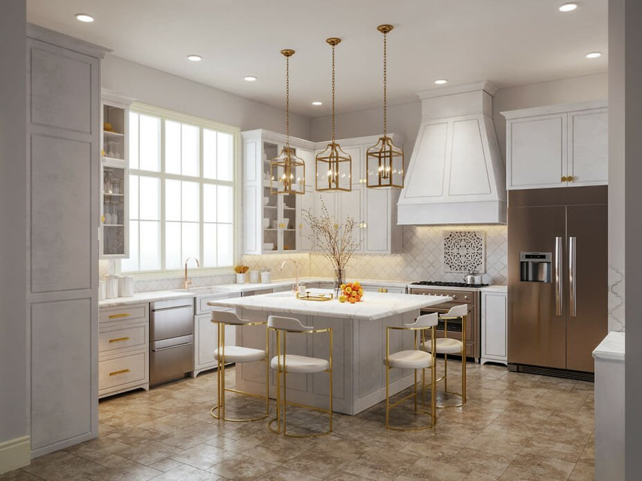 Kitchen design trends 2021 - layered lighting