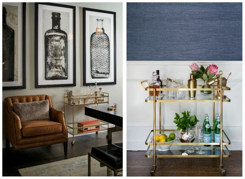 bar cart styling ideas with tools