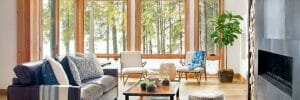 modern rustic living room design feature