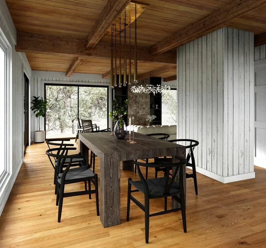 modern rustic living room design online - decorilla
