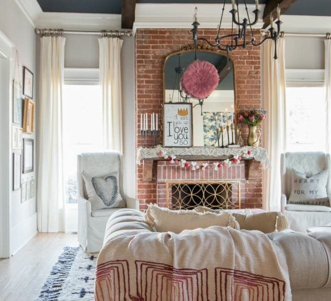 valentine's day home decor ideas festive mantle