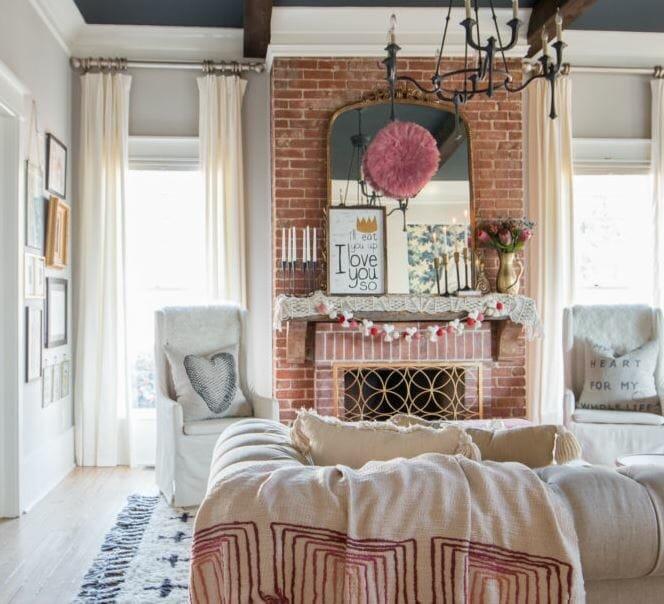 valentine's day home decor ideas festive mantle
