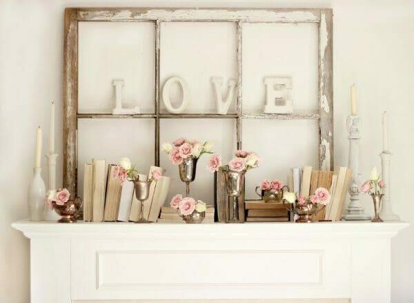 valentine's day home decor ideas for mantel