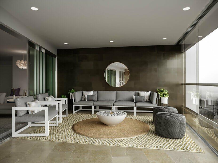 Contemporary condo design for a patio