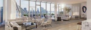 Contemporary condo living room design