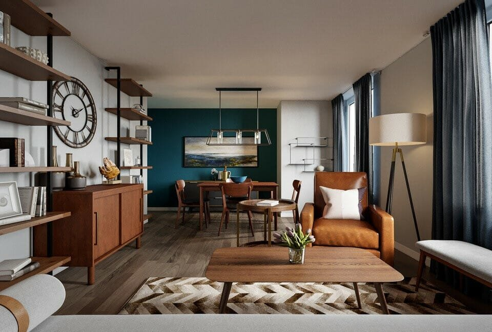 Mid century modern home layout idea