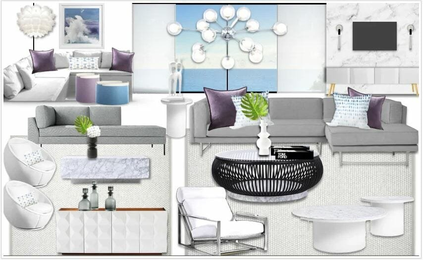 Moodboard for the best contemporary living rooms