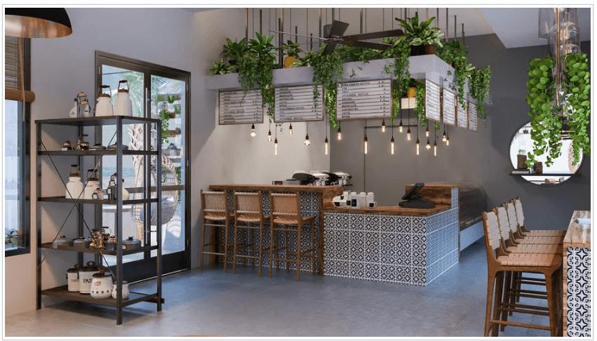coffee shop design render 1